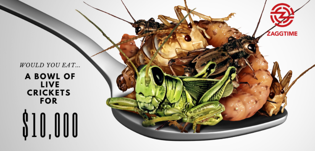 Would you eat a bowl of live crickets for $10,000?