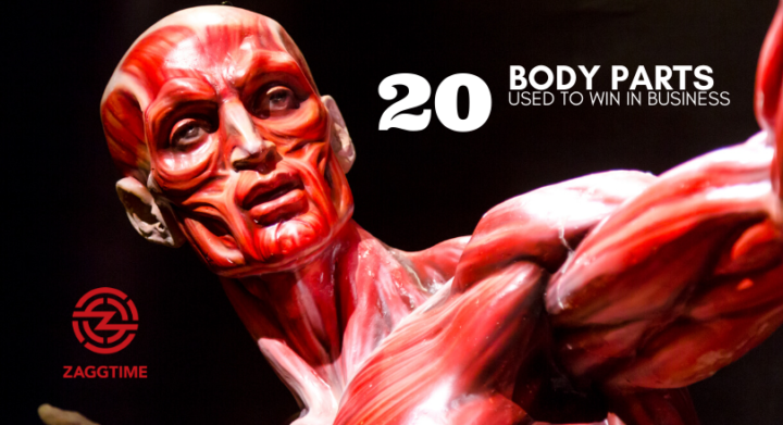 20 Body Parts used to win in business